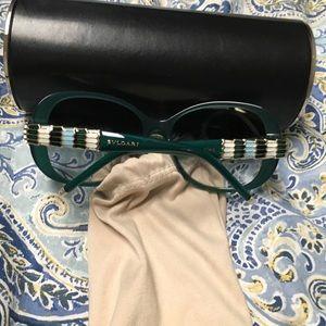 Green bulgari sunglasses